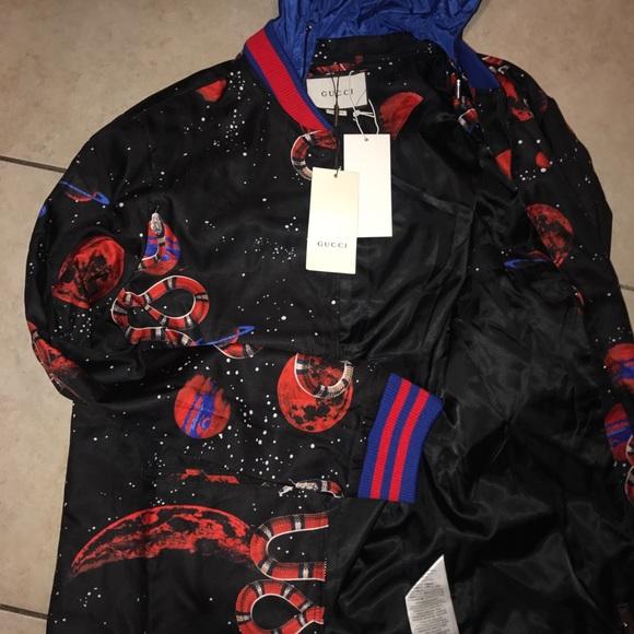 50ec250f70fa Gucci Jackets & Coats | Snake Galaxy Jacket | Poshmark