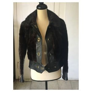 Jackets & Blazers - Lux Leather and Mink Jacket