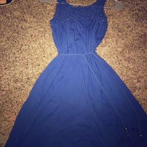 Dresses & Skirts - Blue lace top dress