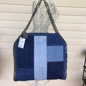 NWT Stella McCartney Denim Patchwork Bag