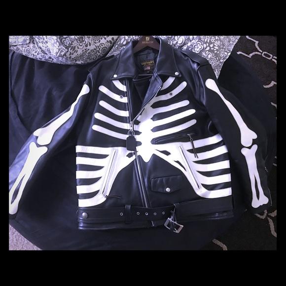 8ac4630e0 Vanson bones jacket, buffalo nickel buttons