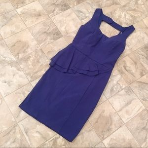 NWOT CHARLOTTE RUSSE blue peplum dress