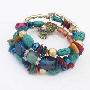 Jewelry - Multilayer Chain Resin Bracelet