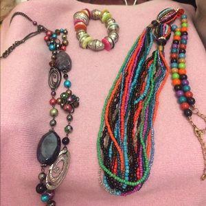 Necklaces and bracelet bundle.