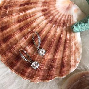 Cubic Zironia Sterling Silver Drop Earrings