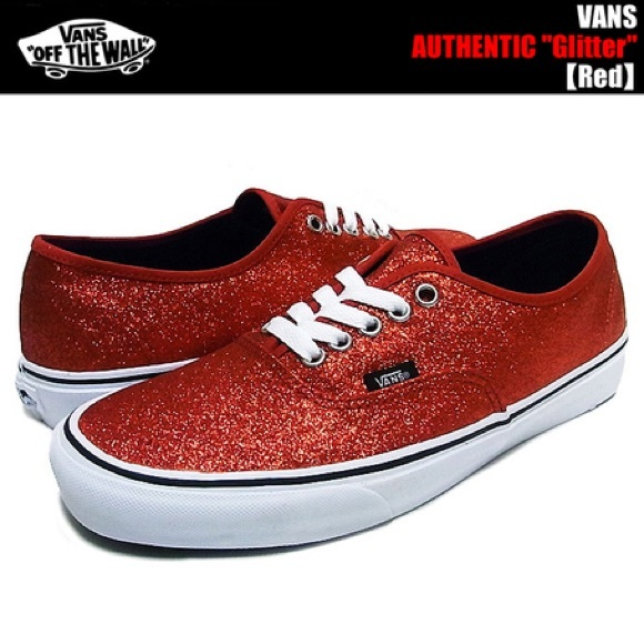 Red glitter vans. M 59a9cf7a2ba50ae68b006ba0 609cf6847