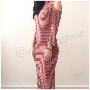 Selena Cold Shoulder Midi Dress