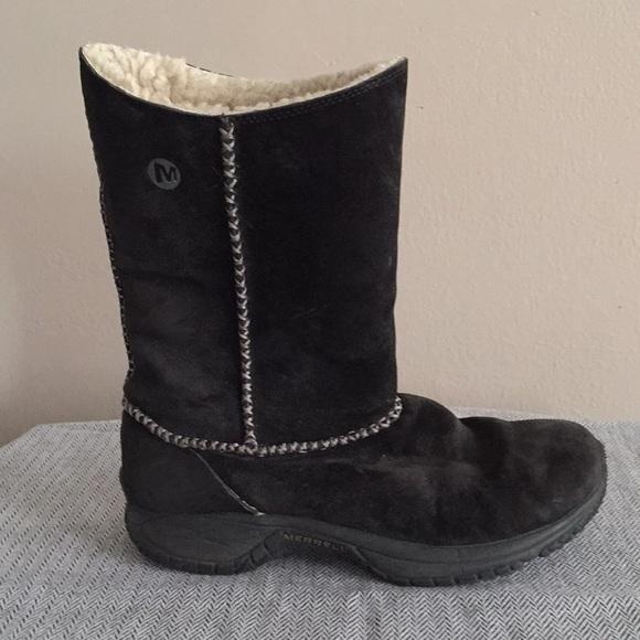 573641cc13 Merrill black suede winter boots