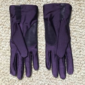Accessories - Ladies' gloves,  purple leather and spandex