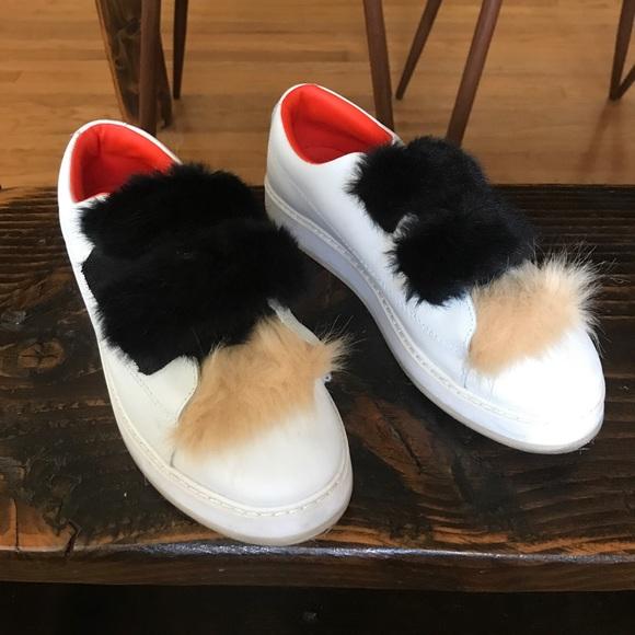 Faux Fur Sneakers