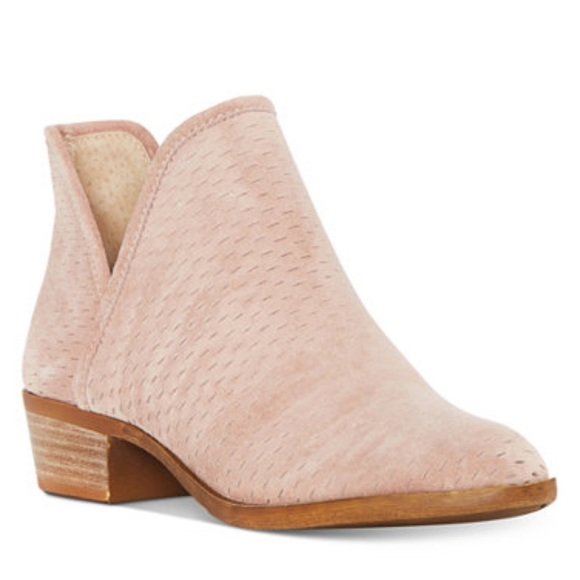 9e7e2ba9cc1e2 NWT Baley Perforated Blush Booties