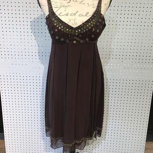 Sue Wong Brown embellished dress