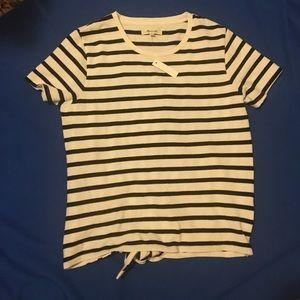 Madewell Tops - madewell striped tie-back tee