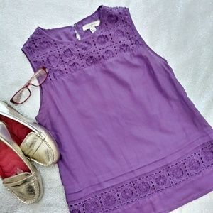 Banana Republic Cotton Silk Blend Lavender Top