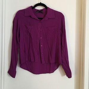 Purple Button up Blouse