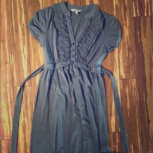 Dresses & Skirts - Speckles grey cotton Dress with tie in the back
