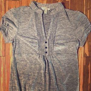 Tops - Speckles heather grey Cotton blend blouse