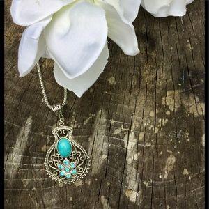 Jewelry - ⚜️Fashion Turquoise Necklace Pendant-Vase⚜️