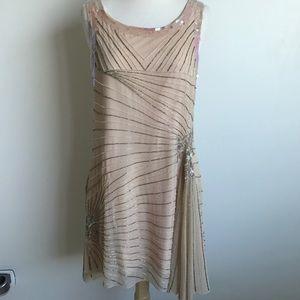 Gorgeous Cream Embellished Dress