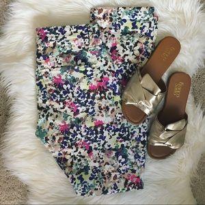 Ann Taylor Floral Jeans
