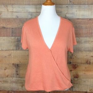NWT Free People 6694 We the Free SS Crossover Top