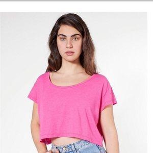 American Apparel Soft Pink Loose Crop Top NWOT