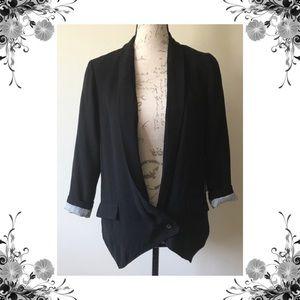 ⬇️{Matty M} Black One Button Blazer Jacket