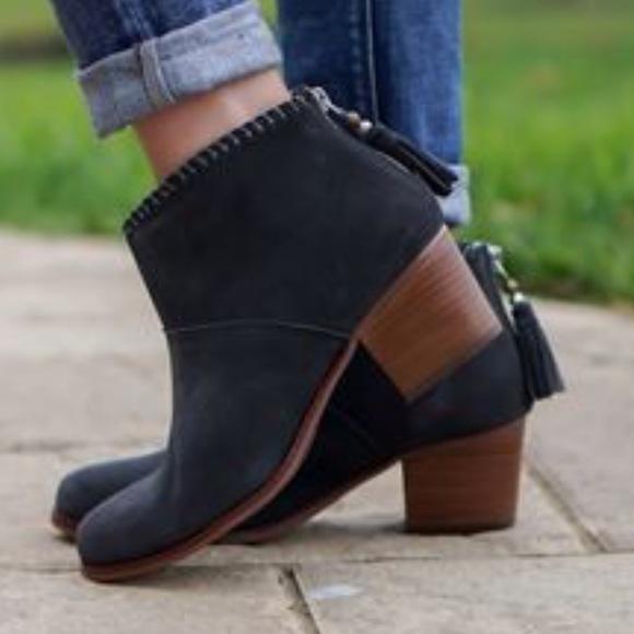 27bb5e38a60 TOMS Leila Castlerock Grey suede boots