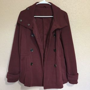 Wet Seal burgundy peacoat