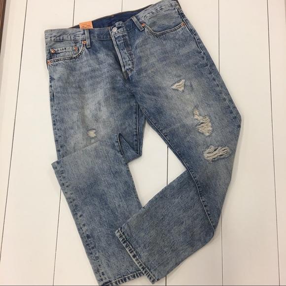4fdd02a4 Levi's Jeans   Levis 501 Ct Button Fly Destructed Sz 29   Poshmark
