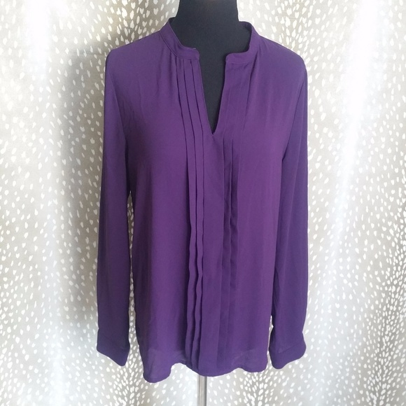 98961d6b8f0 41 Hawthorn Tops - 41 Hawthorn Stitch Fix V Neck Purple Blouse Size M