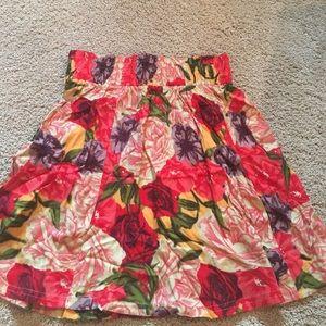 Super cute bright floral circle skirt