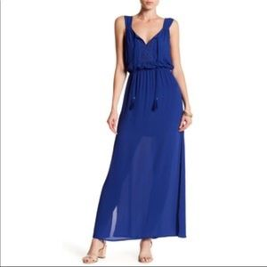 DR2 Cobalt Blue Sleeveless Summer Maxi Dress