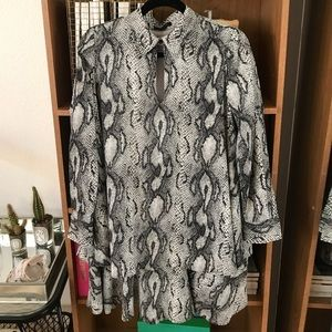 Rachel Zoe snake print dress