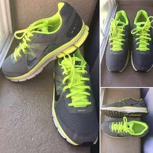 Green and gray Nikes size 10.5