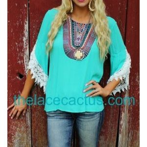 Tops - turquoise tunic