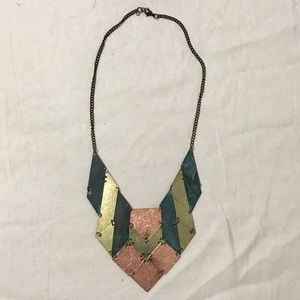 Jewelry - Multi Color Metal Statement Necklace