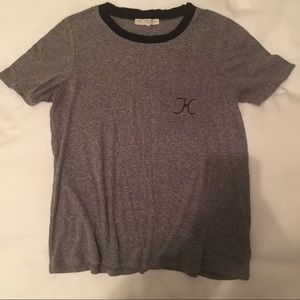 URBAN OUTFITTERS monogrammed K tshirt