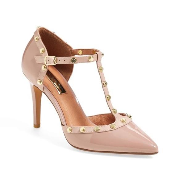 97e0d624736 Halogen Shoes - Halogen Martine Studded T-Strap Pumps - Size 6.5