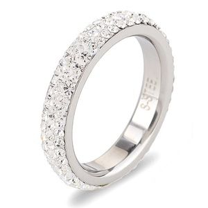 Jewelry - BOGO Holiday Sale ☃️ Stainless Steel &CZ Pave Ring