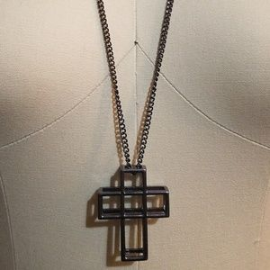 Forever 21 long necklace with cross