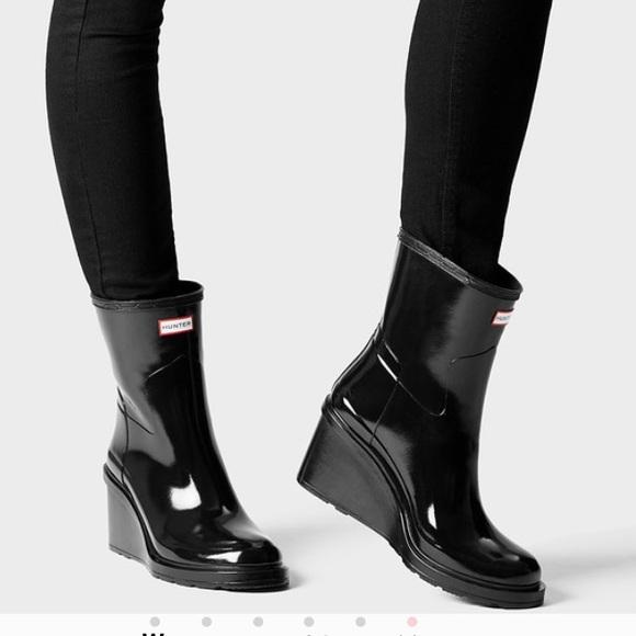 93d847743869 Hunter Boots Shoes - Women s Original Refined Wedge Sole Hunter Boots