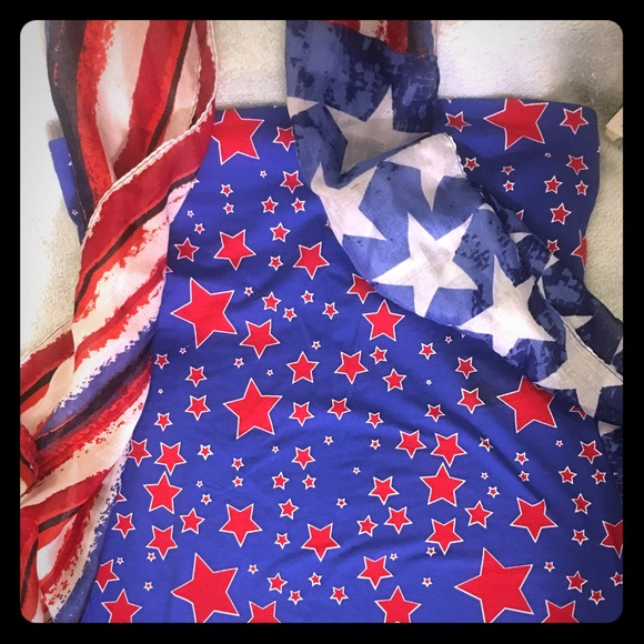 933e9f8a951 🔴Patriotic tube top and scarf