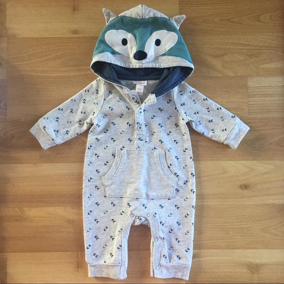 02d5e36a5bbc Cat   Jack Other - Cat   Jack Newborn Long Sleeve Fox Romper