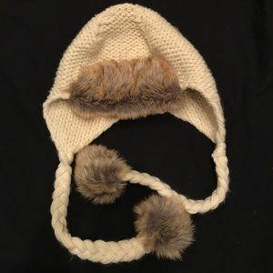 BCBG faux fur hat