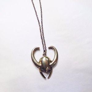 Jewelry - Loki Helmet Necklace