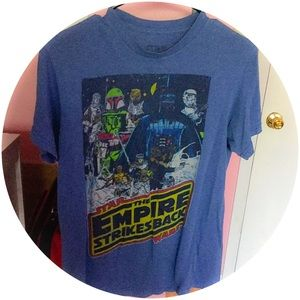 Star Wars Blue Graphic Tee M Empire Strikes Back