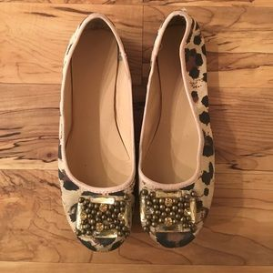Shoes - Leopard Flats with Jewel