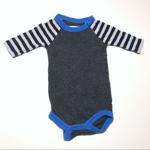 Crewcuts gray stripe sleeve Onesie