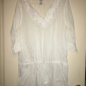 Lands End beach tunic/coverup size XL